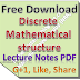 Discrete Mathematical structure Lecture Notes PDF