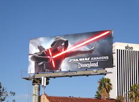 Kylo Ren Star Wars Awakens Disneyland billboard