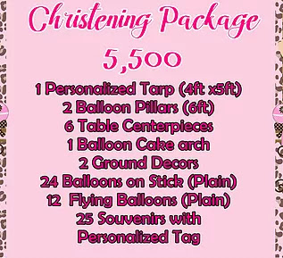 Christening Package 5,500