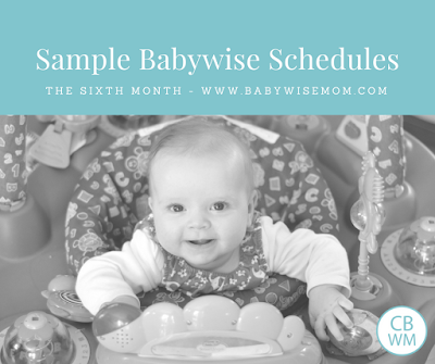 Babywise Sample Schedules: Six Months Old