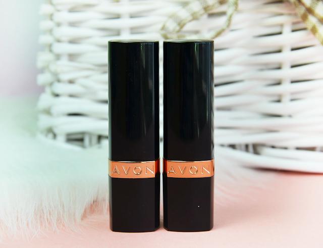 Avon True Colour Supreme Nourishing Lipsticks Crimson Dream and Smooth Mocha