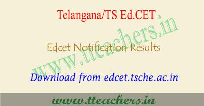 TS Edcet results 2018 Telangana