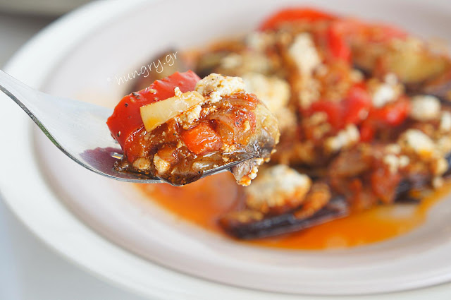Aubergines with Feta