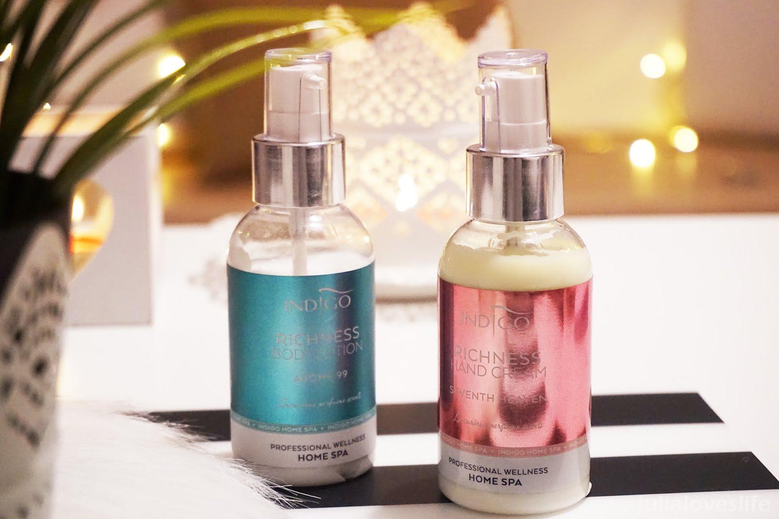 Indigo Home Spa | Richness Hand Cream & Richness Body Lotion - recenzja produktów do pielęgnacji