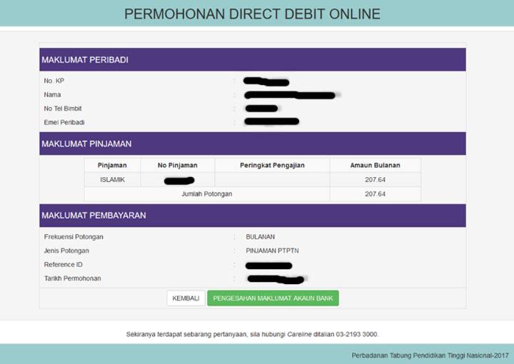 Tatacara Buat Autodebit Bayaran PTPTN