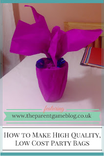 These party bags are suitable for parties or weddings and are so easy to make!