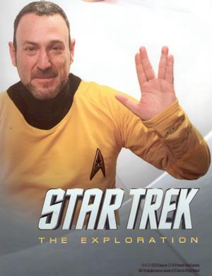 Cartel Star Trek  en la Ciudad de las Artes y las Ciencias de Valencia, España.