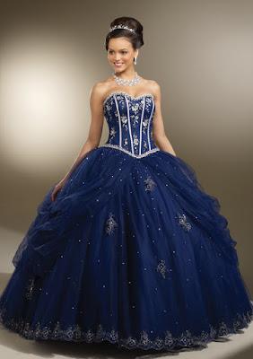 ideas de Vestidos de 15 Años Azules