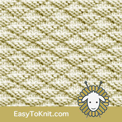 Knit Purl 34: Little Pyramids | Easy to knit #knittingstitches #knitpurl