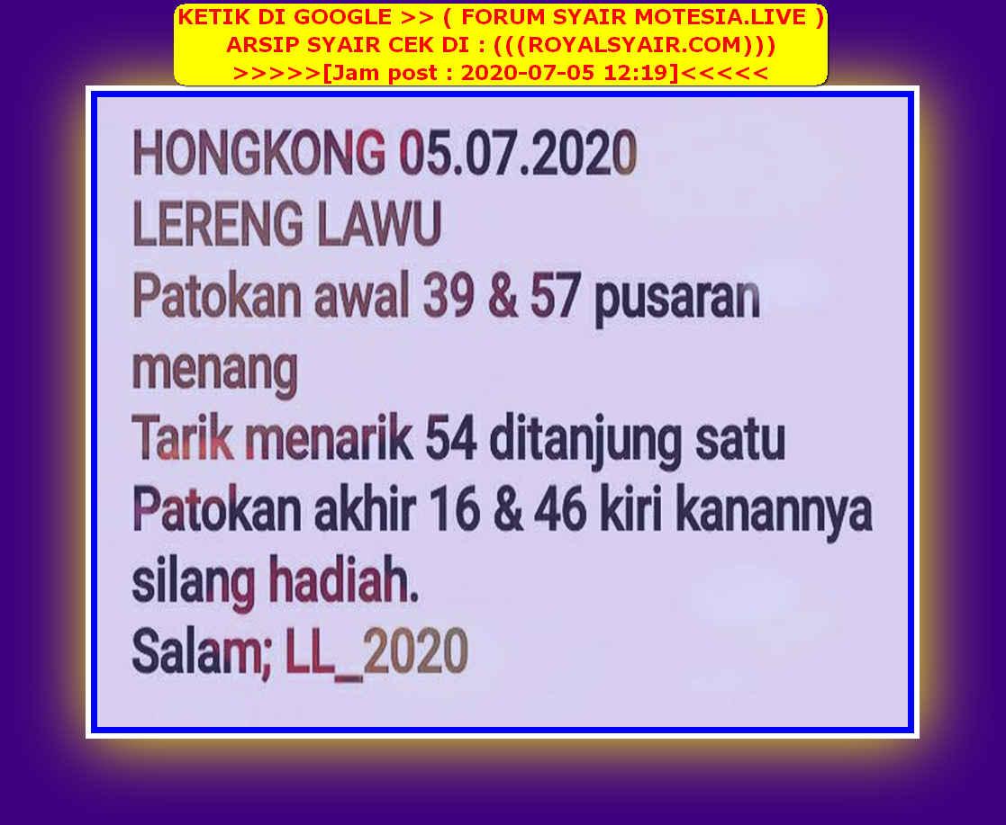 Kode syair Hongkong Minggu 5 Juli 2020 87