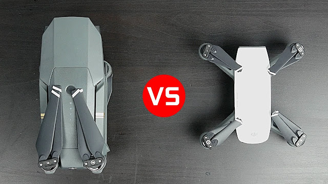 Dji Spark and Dji Mavic pro
