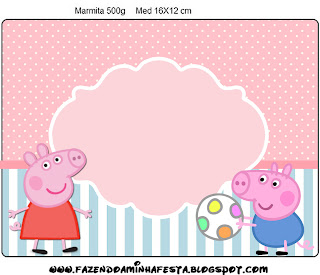 Peppa Pig: Etiquetas para Imprimir Gratis.