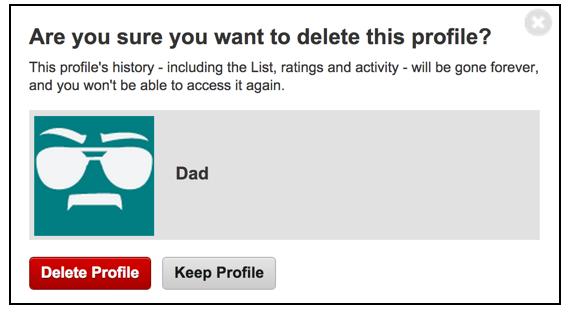 Delete Netflix Profile