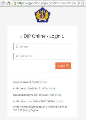 Lakukan Login DJP Online