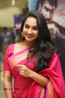 Actress Pooja Ramachandran Pictures in Red Silk Saree at Siddhartha Audio Release 0006