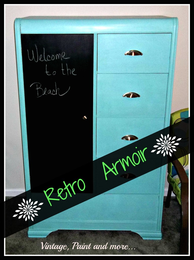 Vintage, Paint and more... a funky, fun, retro painted armoir for a teen bedroom