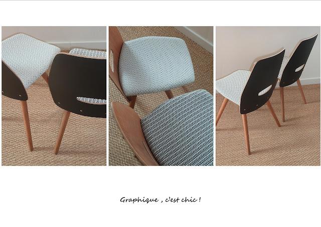 chaises vintage esprit Baumann