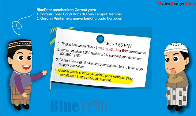 Toner Blueprint Hitam & Hemat