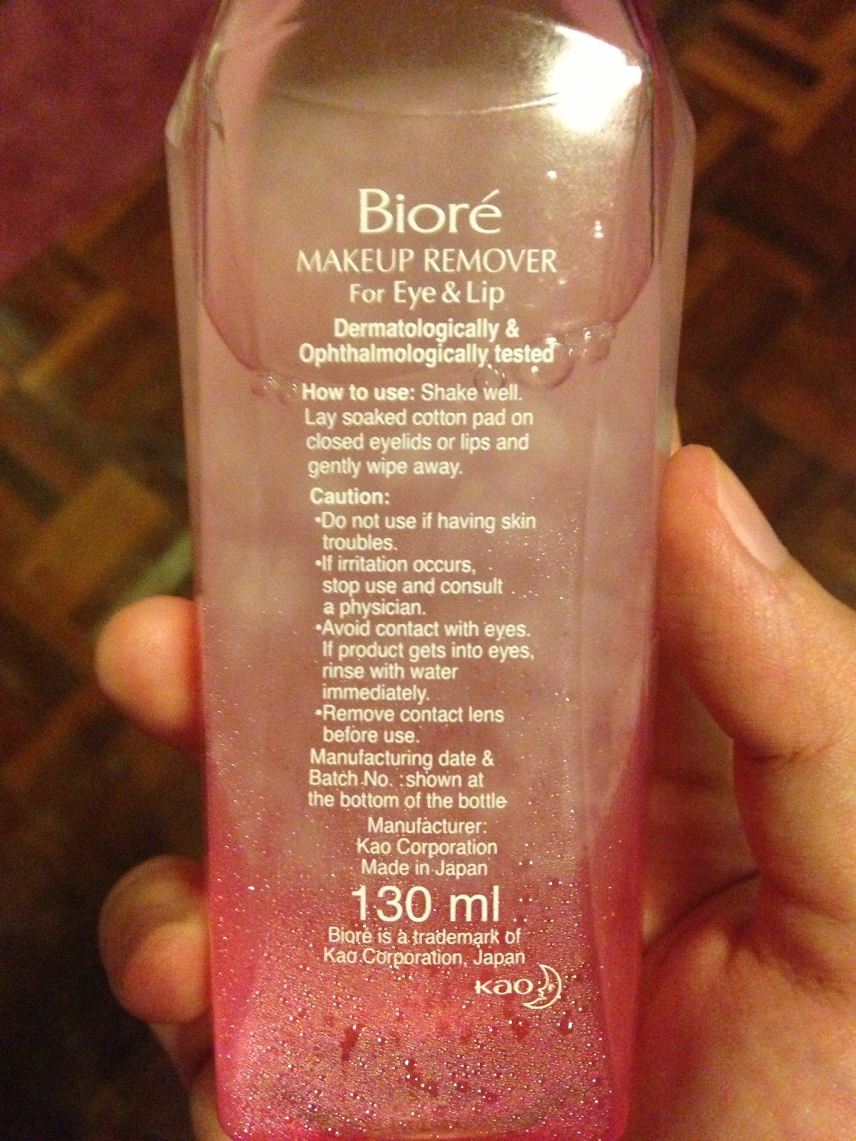 IMG_0646. Back View. Opinion Biore Makeup Remover ...