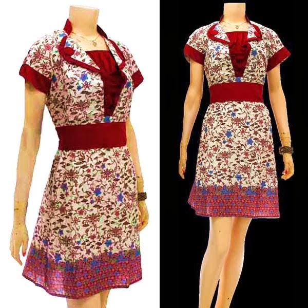 Model Baju Batik Modern Dress: 8 Koleksi Model Dress Baju Batik Terkini