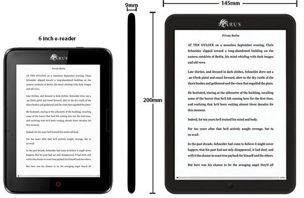 Porównanie sześcicalowego Icarus Illumina HD i czytnika z ekranem 7,8 cala Icarus Illumina XL HD