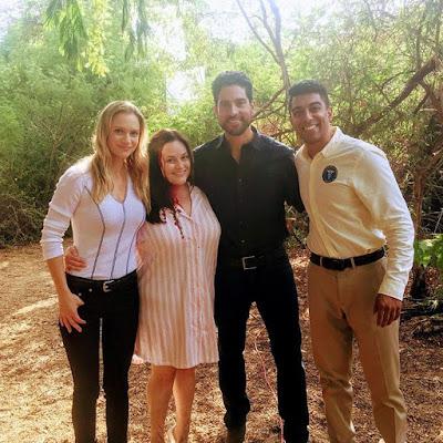 "Criminal Minds"" bts episode 14x04 ""Innocence"" AJ Cook, Mary Claire Garcia, Adam Rodriguez, Ritesh Rajan"