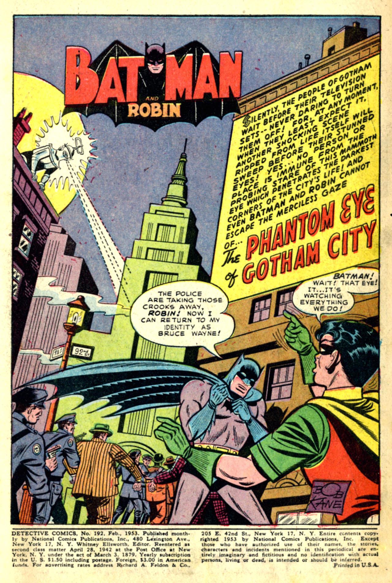 Detective Comics (1937) 192 Page 2