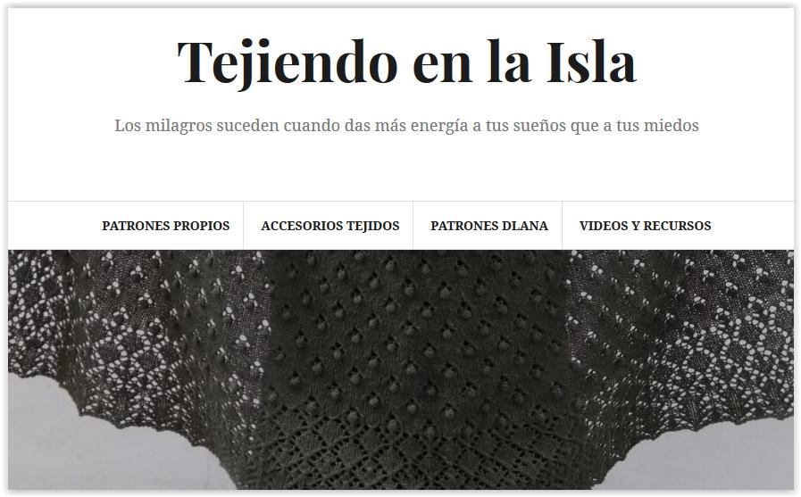 Tejiendo en la Isla: Bufanda lazo