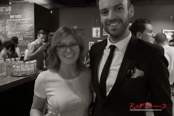 Emma, and Christopher Haggarty at Ganton Man competition at Shirt Bar Sydney - Photography by Kent Johnson.