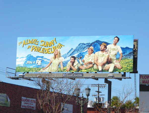 Always Sunny Philadelphia season 12 Sound of Music spoof billboard
