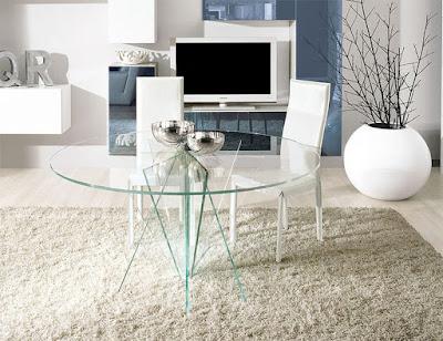 déco table salle à manger moderne en verre