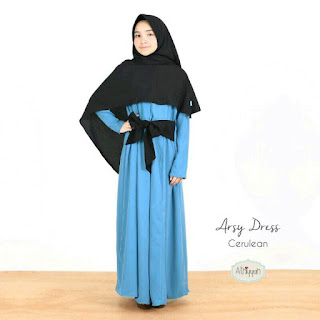 Gamis Athiyyah Arsy Dress Cerulean