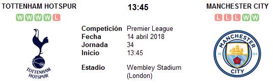 Tottenham vs Manchester City en VIVO