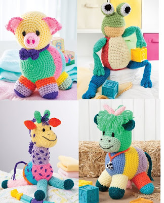 Crochet Patchwork Animal Patterns Cuddly Animals to Crochet Using Scrap Yarn