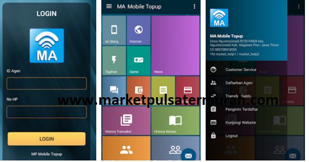 Transaksi Pulsa Via Aplikasi Android MA Mobile Topup Market Pulsa