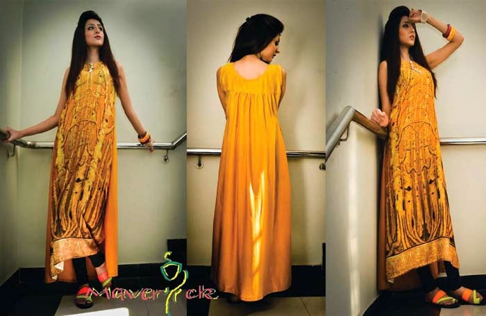 fa79ed4b1320 Stylish Eid And Party Wear Long Shirts For Girls By Maverick From 2014 |  WFwomen