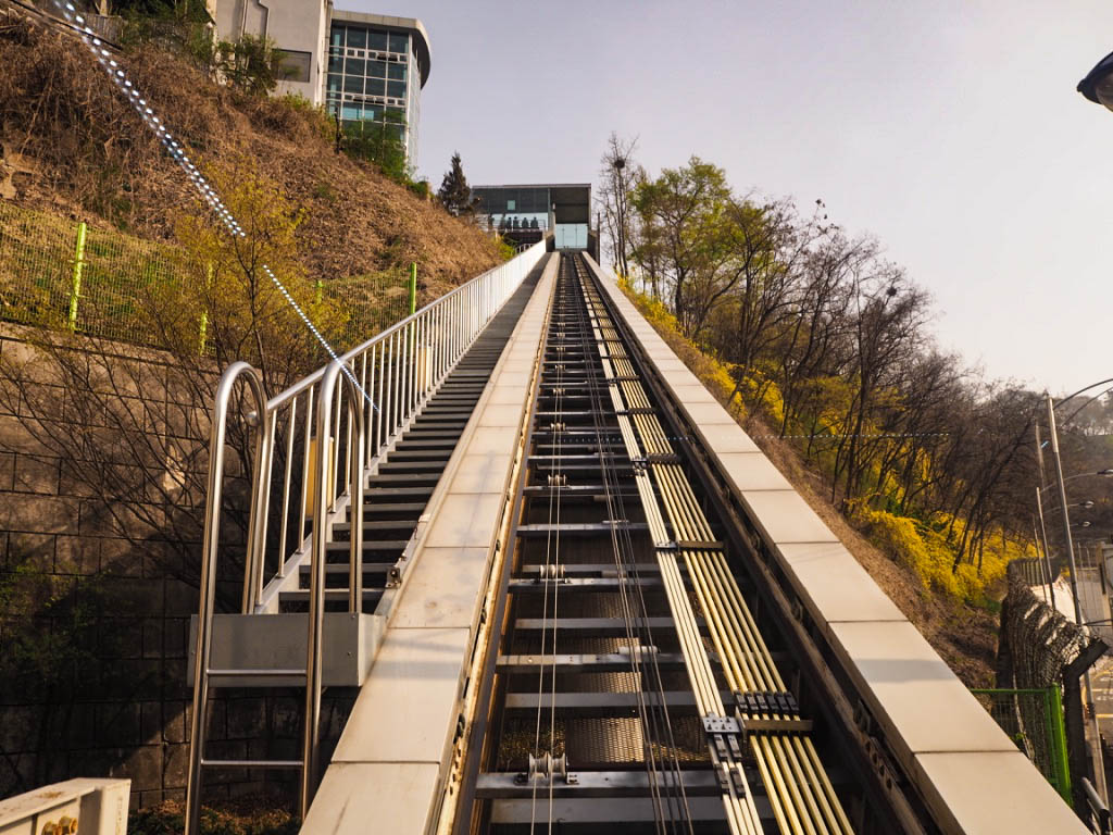 Funicular railway at N Seoul Tower
