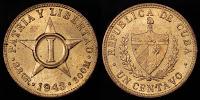 1 cent - Cuba - 1943