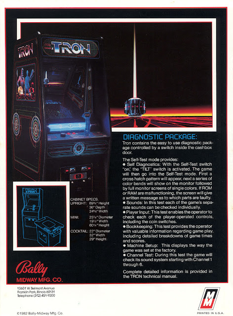 Flyer Arcade Tron - 1982