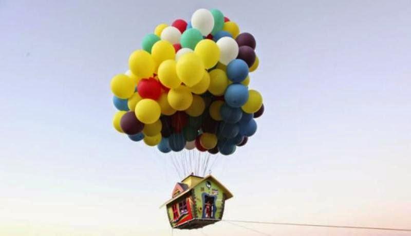 Gambar balon terbang warna-warni lucu banget untuk anak