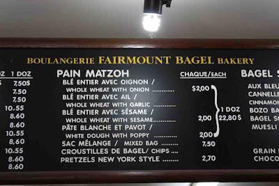Riesige Auswahl an Bagels in der Boulangerie Fairmount Bagel © Copyright Monika Fuchs, TravelWorldOnline