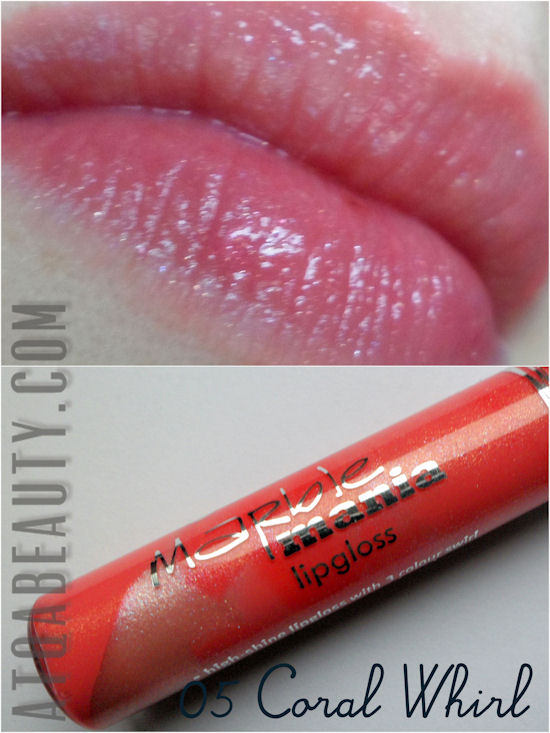 Essence, Marble Mania Lipgloss, 05 Coral Whirl