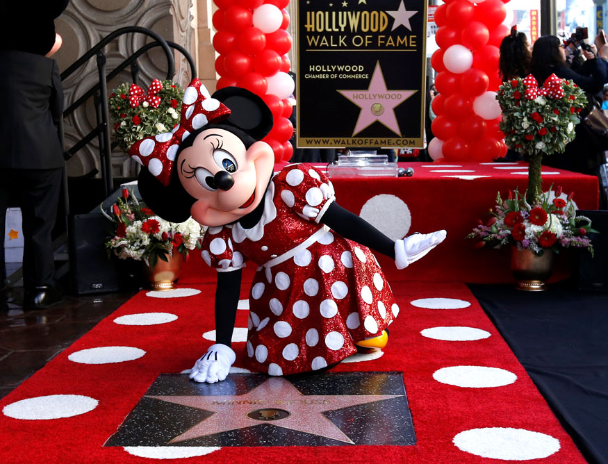 Minnie Mouse Gets a Star on Hollywood Walk of Fame