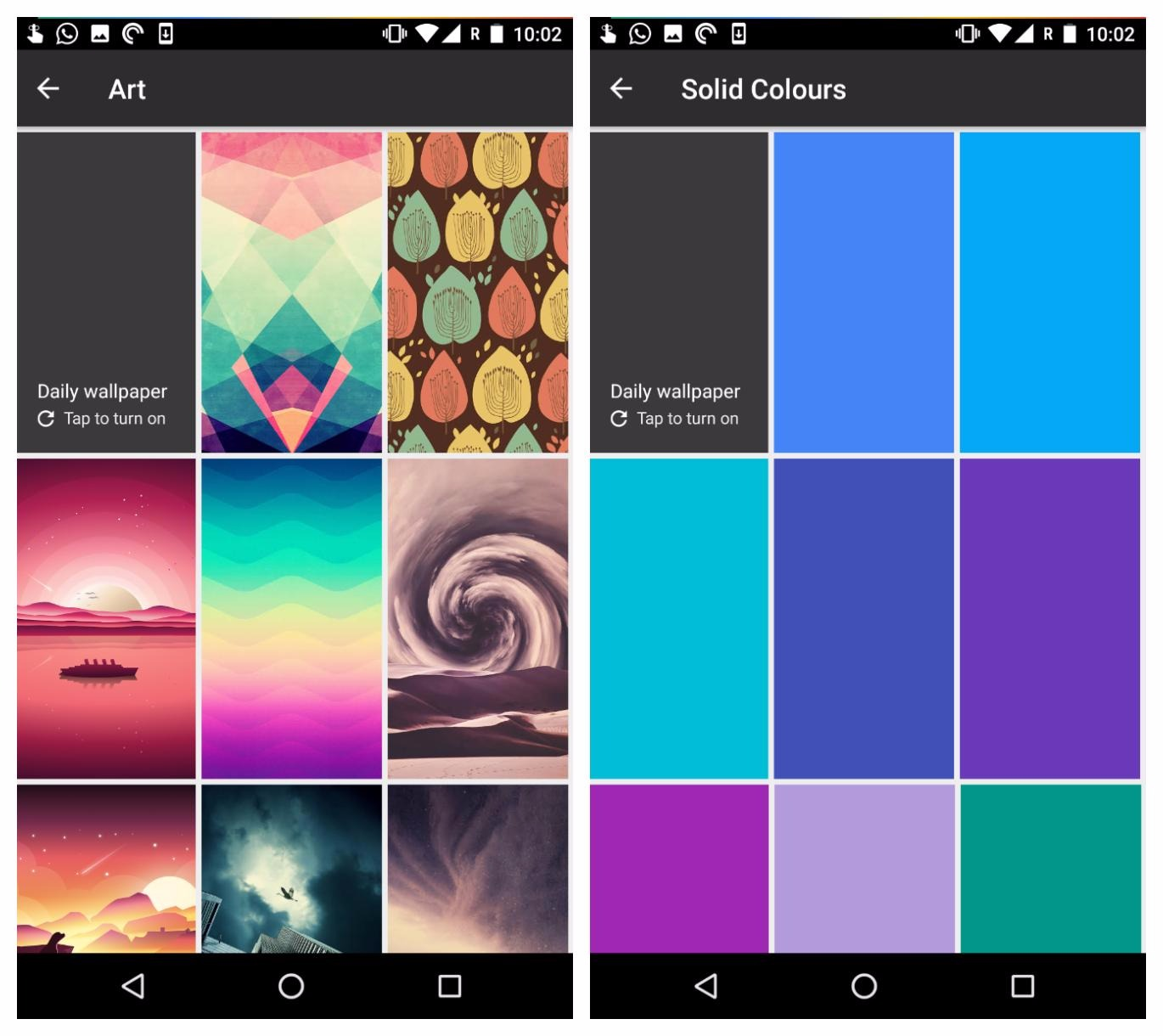 APK] Google Wallpapers Got Two New Categories With More New
