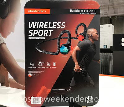 Listen to your favorite songs while working out with the Plantronics BackBeat Fit 2100 Wireless Sport Earbuds