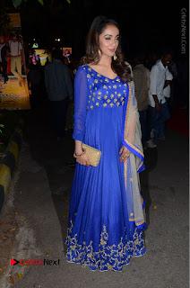 Telugu Actress Tejaswi Madivada Pos in Blue Long Dress at Nanna Nenu Na Boyfriends Audio Launch  0106.JPG