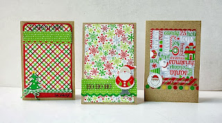 SRM Stickers Blog - Clean & Simple Christmas Cards by Yvonne - #cards #Christmas #twine #stickers #simple