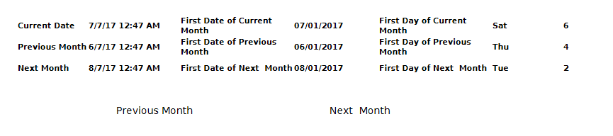 Tips : Dates Calculations - Current Month, Previous Month, Next