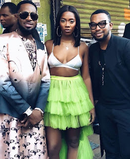 Tiwa Savage wears only bra in new photo with D'Banj