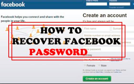 Need facebook password my i I forgot